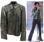 Adam Lambert Leather Jacket Stage-Worn on American Idol During His Famous Rendition of Whole Lotta Love -- The Performance That Convinced Queen That Lambert Could Be Their New Lead Singer
