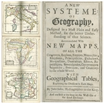 A New Systeme of Geography First Edition From 1685 by John Seller, the Hydrographer to the King -- Very Rare as a First Edition With Few Copies Still Extant