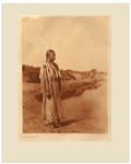 Edward Sheriff Curtis Original Large Photogravure Plate of Cheyenne Maiden -- From The North American Indian