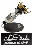 Apollo 16 Astronaut Charlie Duke Signed Command and Lunar Module Model