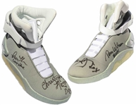 Back to the Future Cast-Signed Air McFly Lighted Shoes