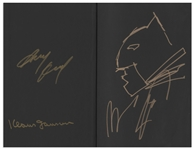 Frank Miller Hand-Drawn & Signed Batman Sketch -- Within Book One of The Dark Knight III: The Master Race