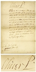 Oliver Cromwell Letter Signed Oliver P as Lord Protector of the Commonwealth