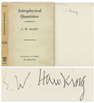 Stephen Hawking Signed Copy of His Personally Owned Book, Astrophysical Quantities -- One of the Most Important Books on Astrophysics -- With University Archives COA