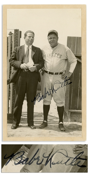 Babe Ruth Signed Photo -- With PSA/DNA COA