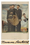 Norman Rockwell Tough Call Signed Poster