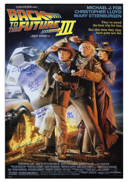 Back to the Future Part III Cast-Signed Poster -- With All Actors Adding Their Characters Names