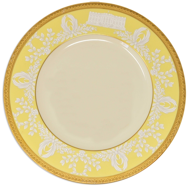 Bill Clinton White House China Dessert Plate to Honor the 200th Anniversary of the White House