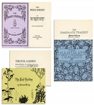 Edward Gorey Signed Collection of His First Fantod Press Book Set From 1966 -- Complete First Edition Limited Set in Original Envelope