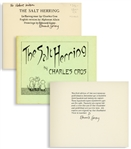 Edward Gorey Twice-Signed Limited First Edition of The Salt Herring -- Letter D in the Limited Edition Not for Sale