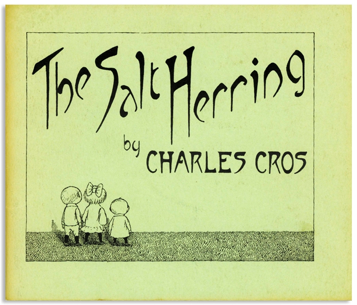 Edward Gorey Twice-Signed Limited First Edition of ''The Salt Herring'' -- Letter ''D'' in the Limited Edition Not for Sale