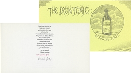 Edward Gorey Signed First Edition of The Iron Tonic -- One of Only Five Out of Series Copies Reserved for Friends