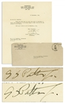 George S. Patton WWII Letter Signed From September 1944 -- Accompanied by Original Mailing Envelope Also Signed by Patton