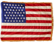 Scarce White House Flag With 49-Stars Signifying Alaskas Entry to the Union -- Displayed in the Eisenhower White House