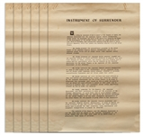 World War II Full-Size Period Copy of the Japanese Instrument of Surrender -- One of a Limited Number Made for U.S. Military Personnel in Japan