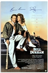 Kevin Costner and Susan Sarandon Signed Bull Durham Poster