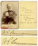 General William Tecumseh Sherman Twice-Signed Cabinet Card