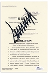 Donald Trump Signed Souvenir Articles of Impeachment -- With JSA COA, Signed by Trump as President