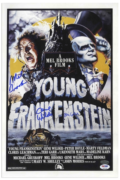 ''Young Frankenstein'' Cast-Signed 12'' x 18'' Photo of the Movie Poster -- With PSA/DNA COA