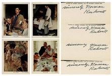 Norman Rockwell Signed Four Freedoms Prints -- Complete Set of Four Prints From 1943 Each Signed by Rockwell, Without Inscription