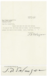 J.D. Salinger Letter Signed -- ...Im glad if that old story read all right...