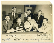 Mercury 7 Signed 10 x 8 Photo, Signed by All Seven Astronauts -- Uninscribed, With Steve Zarelli COA