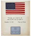 United States Flag Flown to the Moon on the Apollo 12 Mission