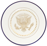 White House Service Plate From the George W. Bush Administration -- For the White House Staff Mess