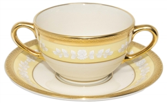 Bill Clinton White House China Bouillon Soup Bowl and Saucer to Honor the 200th Anniversary of the White House
