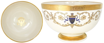 Lenox China Presentation Bowl in the Millennium Style, Made for the George W. Bush White House