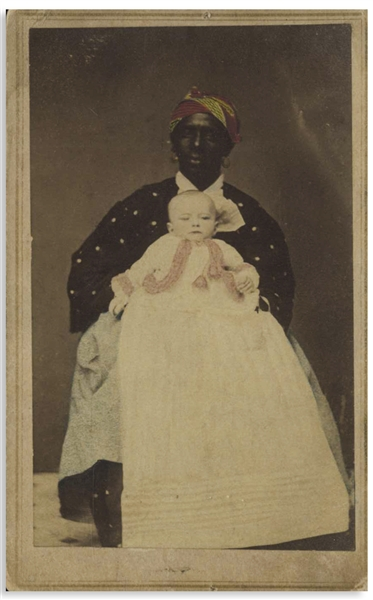 CDV Photograph of an 19th Century African American Wet Nurse From Savannah, Georgia