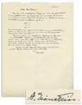 Albert Einstein Autograph Letter Signed With His Handwritten Equations -- ...the theory...really does constitute immense progress...as an appendix of my little book on relativity...
