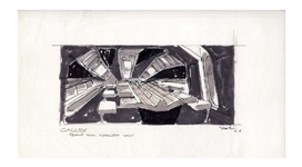Early Concept Art for Alien, Done in 1977 -- Showing the Hypersleep Vault of the Nostromo Spaceship