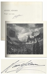 Ansel Adams Signed Copy of His Oversized Photography Book, Images 1923-1974