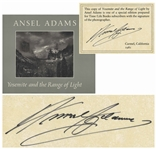 Ansel Adams Signed Copy of His Quintessential Oversized Photography Book, Yosemite and the Range of Light