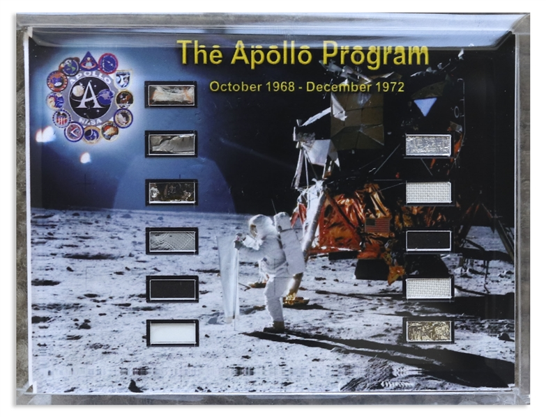 Space Flown Fragments From Every Manned Apollo Mission