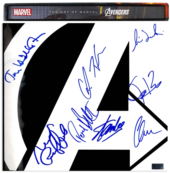 Cast-Signed The Art of the Avengers Coffee Table Book -- Also Signed by Creator Stan Lee
