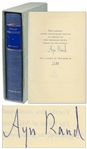 Ayn Rand Signed Atlas Shrugged -- Number 1,780 in a Special 10th Anniversary Edition Limited to 2,000, With Rare Slipcase