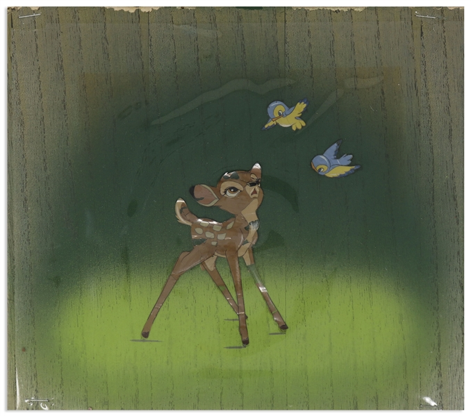 Bambi Cel Featuring Bambi With Two Bluebirds