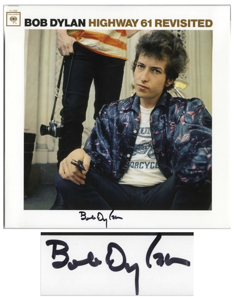 Bob Dylan Signed Album ''Highway 61 Revisited'' -- With COAs From Jeff Rosen and Roger Epperson