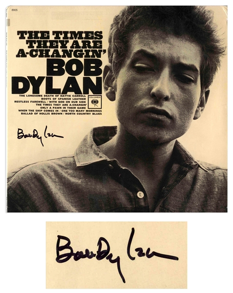 Bob Dylan Signed Album ''The Times They Are A-Changin''' -- With Roger Epperson & Jeff Rosen COAs