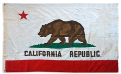California State Flag From the 1950s, Measuring 6 x 4