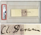 Charles Darwin Signature -- Encapsulated by PSA