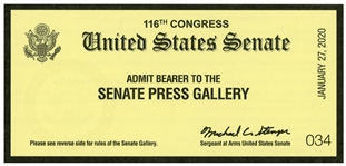 Donald Trump Senate Impeachment Trial Ticket