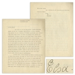 Elsa Einstein Letter Signed From 1933 Shortly Before Albert Einstein Decided to Leave Germany -- ...we have already done a number of other things that were much more difficult and dangerous...