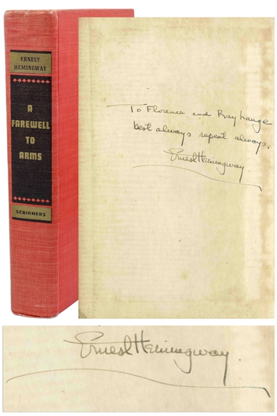 Ernest Hemingway Signed ''A Farewell to Arms''