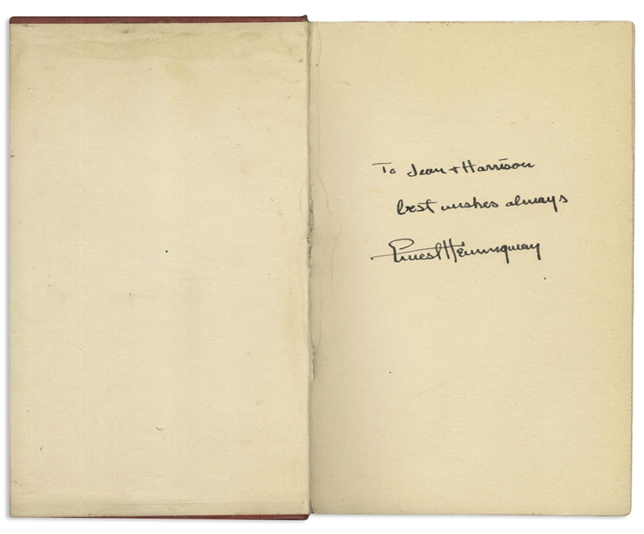 Ernest Hemingway Signed First Edition, First Printing of ''The Fifth Column and the First Forty-Nine Stories'' -- A Very Uncommon Title Signed by Hemingway