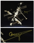 Cosmonaut Gennady Strekalov Signed 10 x 8 Photo of the Mir Space Station