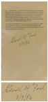 Gerald Ford Signed Souvenir Pardon of Richard Nixon -- Encapsulated by Beckett