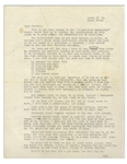 Hunter Thompson Typed Letter -- ...we writers dont worry about dust-jacket photos until the book is in the hands of a publisher...Now working on Rum Diary & will finish it before leaving...